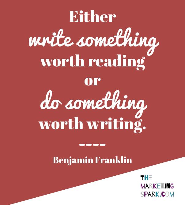 Quote of the Week Benjamin Franklin