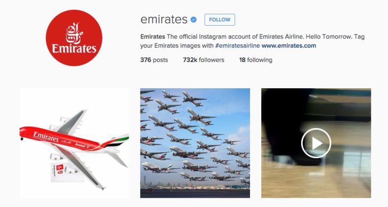 Emirates Instagram