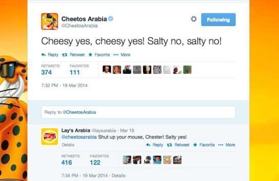 Local accounts for Cheetos and Lay's used the popular Egyptian